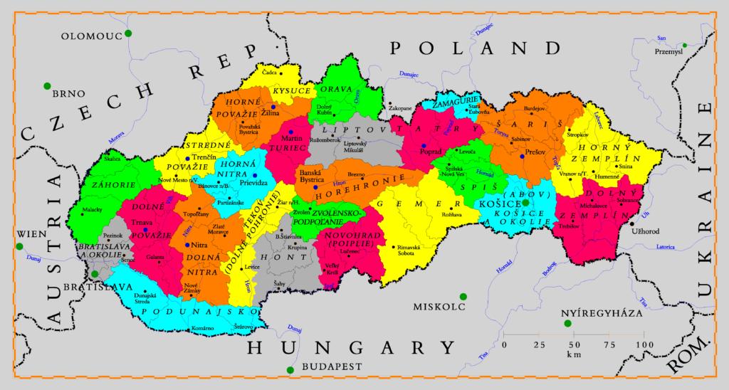 Mapa regiones turísticas
