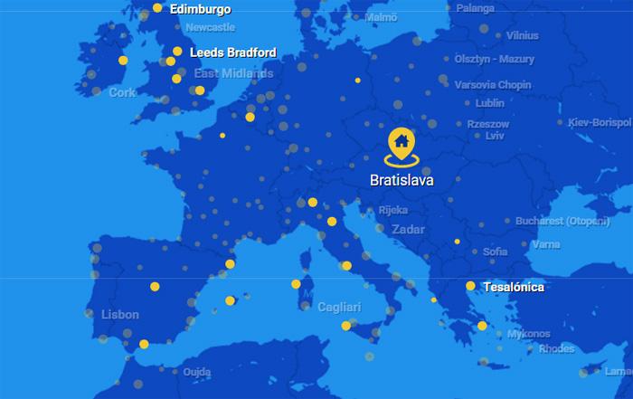 Volar a Eslovaquia con Ryanair desde España