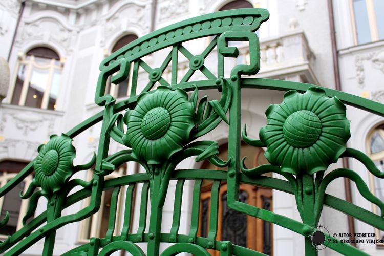 Detalles del palacio Rosenfeldov