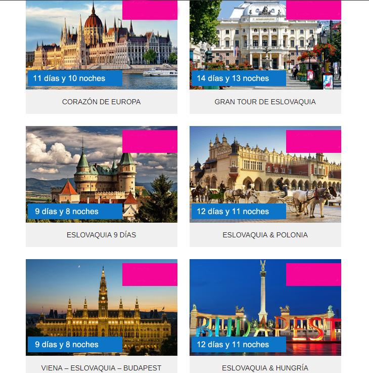 Viajes organizados a Eslovaquia